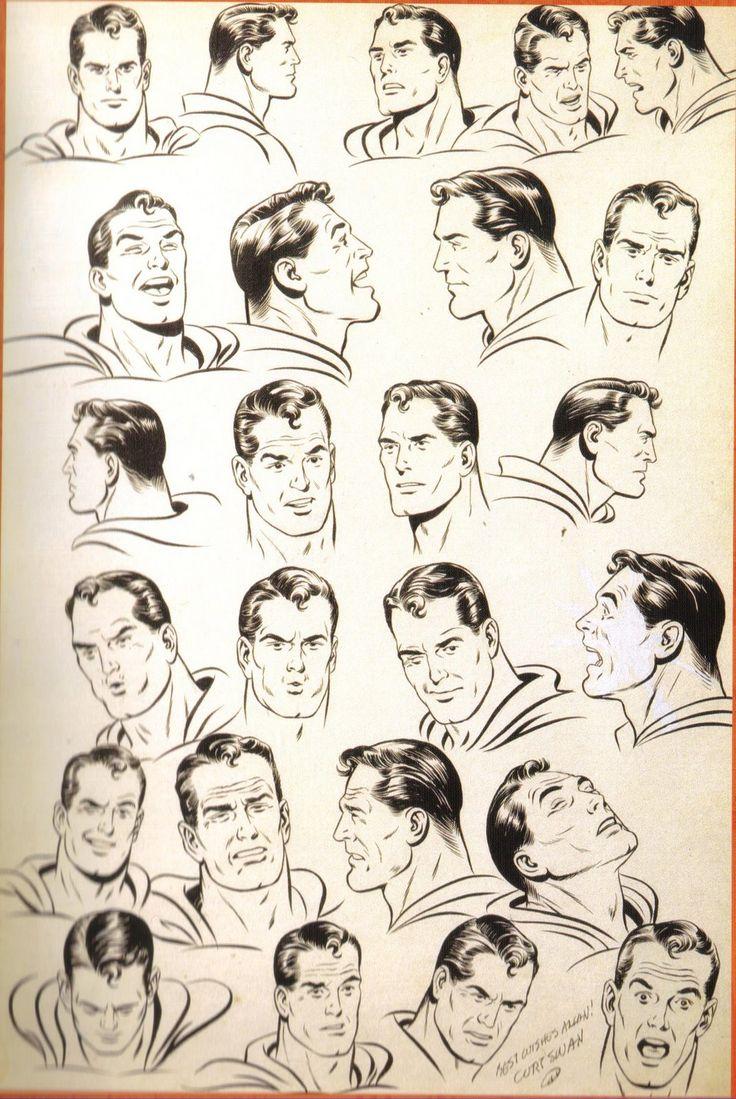 Comic Book Character Design Sheet : Swan superman faces g model sheets