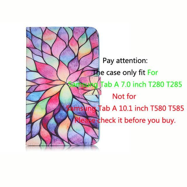 For Samsung Tab a6 7.0 2016 Leather Case For Samsung Galaxy Tab A 7.0 T280 T285 SM-T280 Cases Cover Tablet Fashion Funda Shell