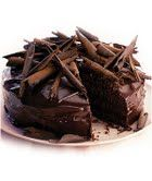 Indulge into irresistible temptation of this spectacular dark chocolate cake;  to flowershop18