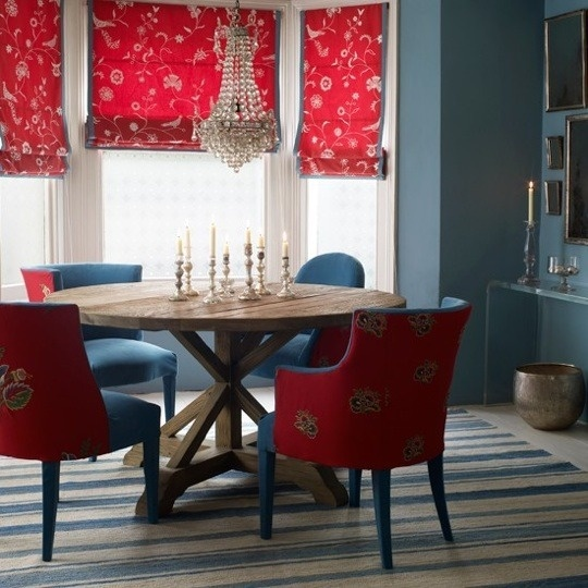 Classic Color: Variations On Red, White U0026 Blue. Blue Dining RoomsRed Dining  ChairsTeal ...