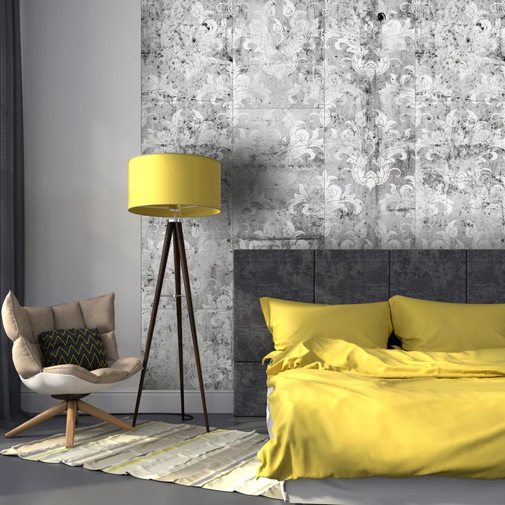 A bit of industrial, a bit of glamour - fully amazing! Modern wallpaper inspired by concrete facture