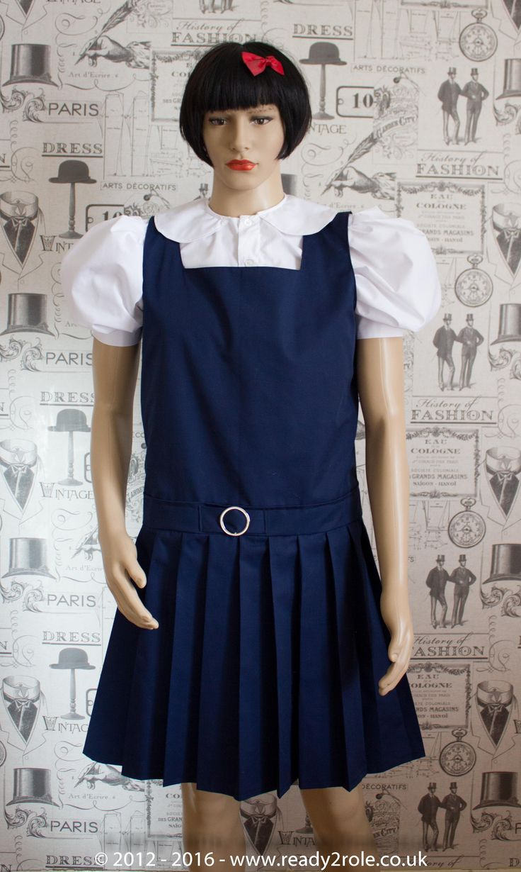 Adult School Uniform Dresses U00 Pinafore Style Knife -4232