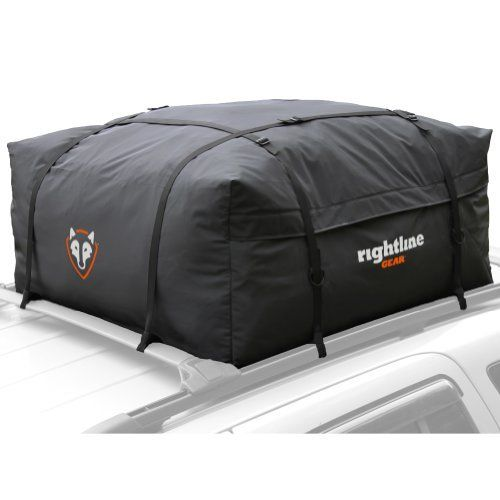 Rightline Gear 100E20 Edge Car Top Carrier by Rightline Gear. $69.95. The Rightline Gear Edge Car Top Carrier is a weatherproof carrier designed for SUVs, crossovers, and minivans. It unzips 3/4 of the way around for easy loading and can be used with or without a roof rack. Connect the carrier's straps to a roof rack, run them through the vehicle, or add the car clips (sold separately) to attach them to the vehicle's door frame.