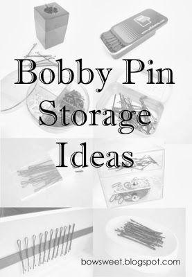 Bobby Pin Storage Ideas