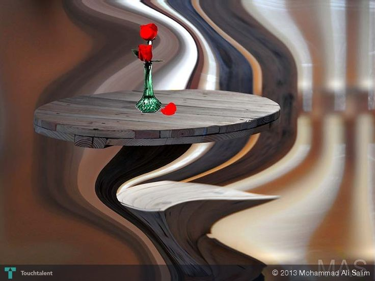 Rose on Round Table  - Creative Art in Photography by Mohammad Ali Salim at Touchtalent
