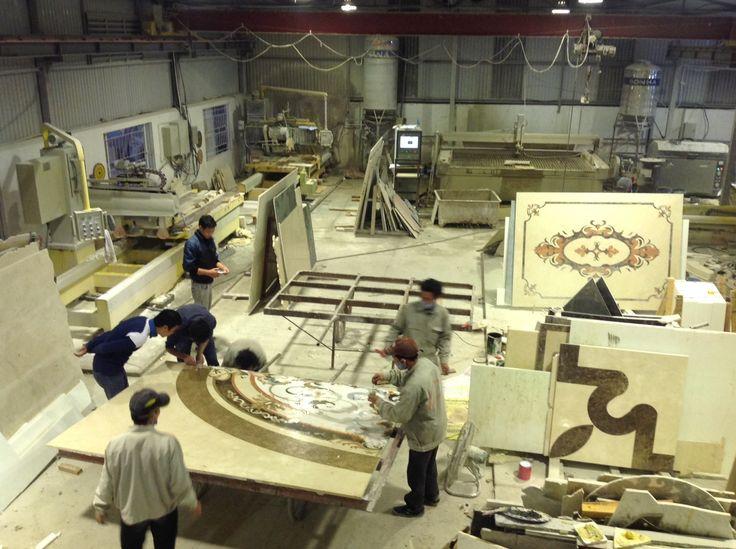 Sản xuất tại nhà máy. Tranh hoa văn đá tầng 2/ 20 Cát Linh - Đống Đa - Hà Nội showroom Hùng Túy ( PICENZA )