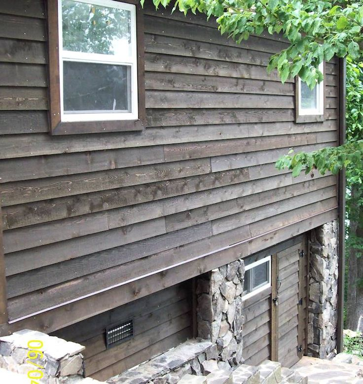 Thick Bevel Rabbeted Siding Stk Grade Stained Olympic 712 Black Oak Home In North Carolina Cedar Lap Siding House Exterior Lap Siding