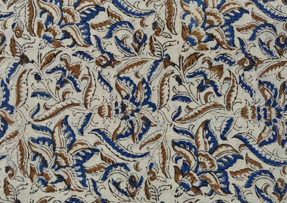 5 Yard Kalamkari Fabric,Flower Print, Bagru Print Fabric , Dabu Print, Block Print , Hand Block Print, Fabric by Yard, Cotton Fabric #034