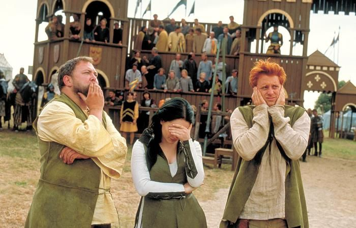 A KNIGHTS TALE, Mark Addy, Laura Fraser, Alan Tudyk, 2001. ©Columbia Pictures