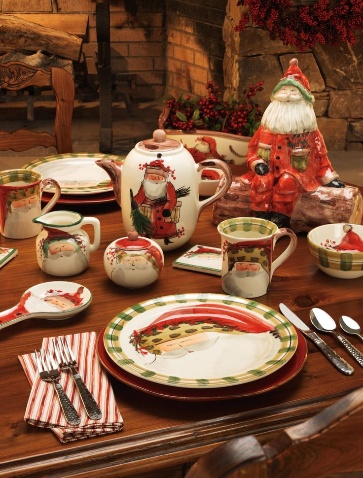 Old St Nick dinnerware by Vietri & 190 best Christmas Dinnerware images on Pinterest | Christmas ...