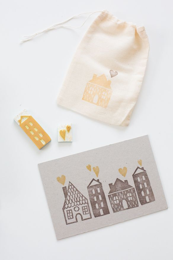 DIY: stamp village ... easily make stamps for save the dates, place cards, thank you cards, etc.