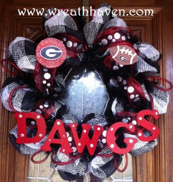 Georgia Bulldogs Deco Mesh Wreath