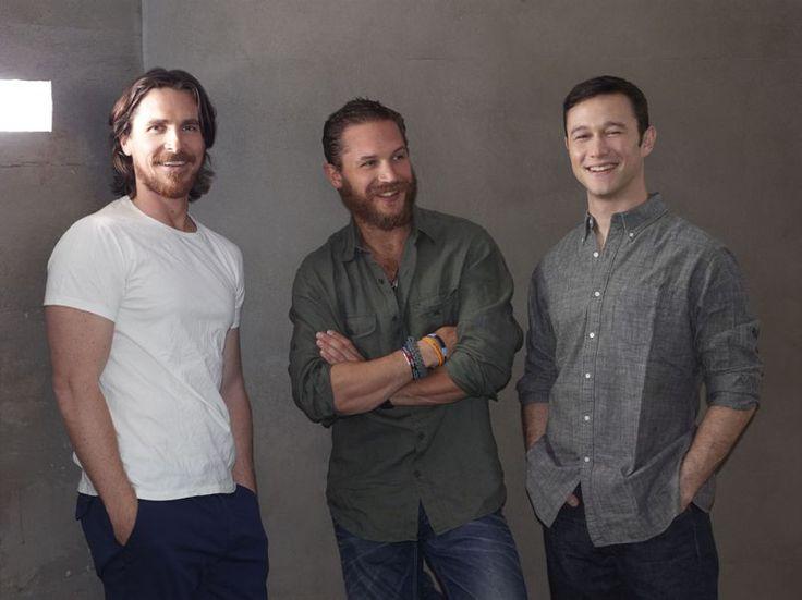 Christian Bale, Tom Hardy, and JGL. love me some beards