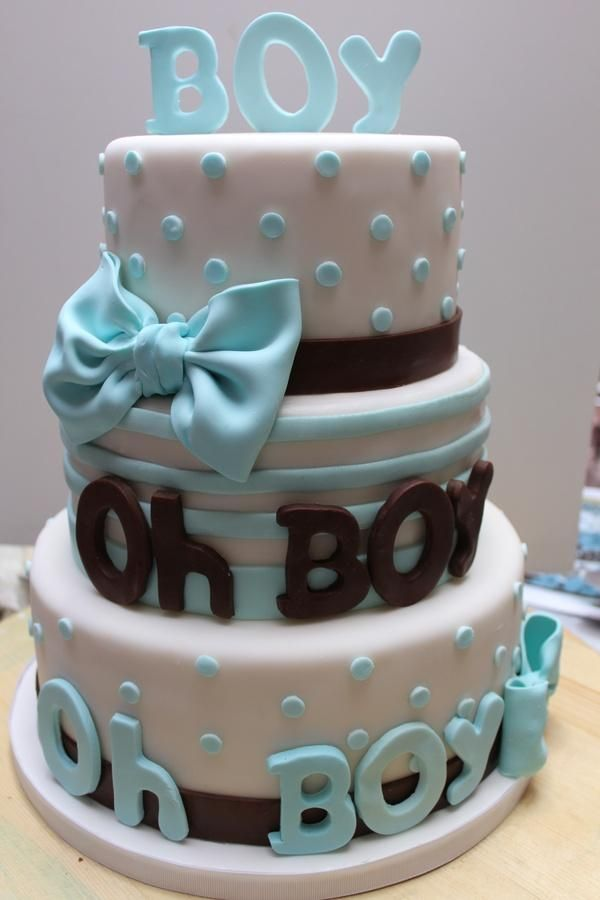 Craft it! Craft it! Baby Boy cake » Baby shower cake! Cute!