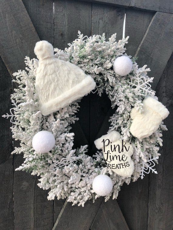 White Winter Wreath For Front Door Flocked Winter Wreath Winter Wreath Winter Wreath Diy White Christmas Wreath,Best Paint Color For Ceilings