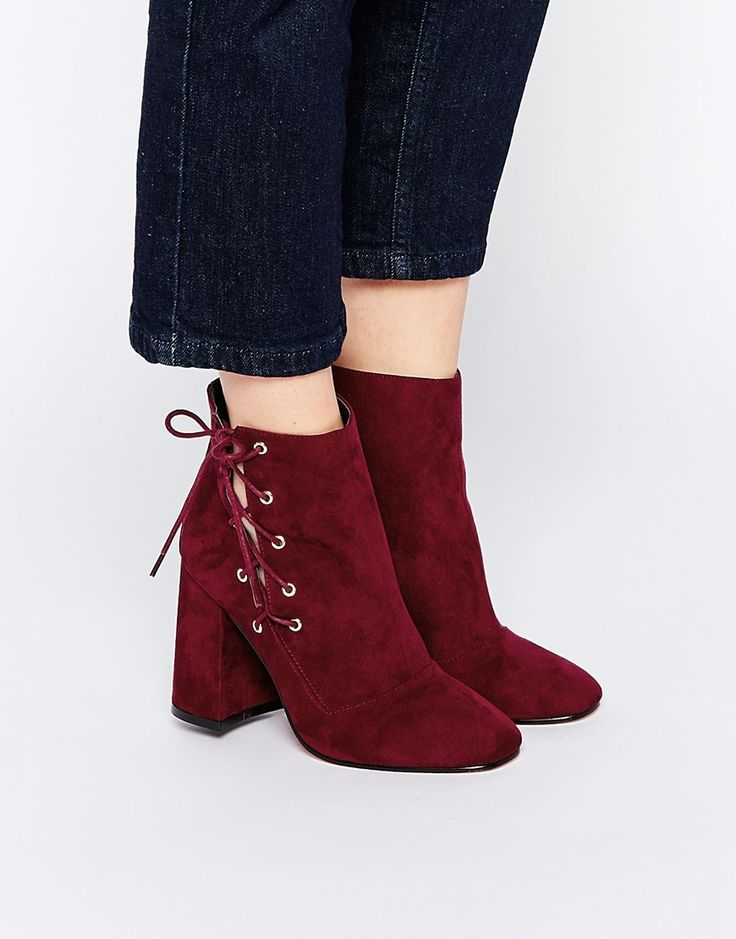 Image 1 ofASOS ENIGMA Lace Up Ankle Boots