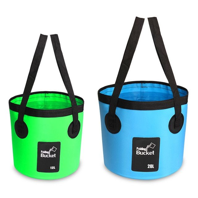 Water Bucket Container Hiking 12L Travel Camping Collapsible Hydration Outdoor