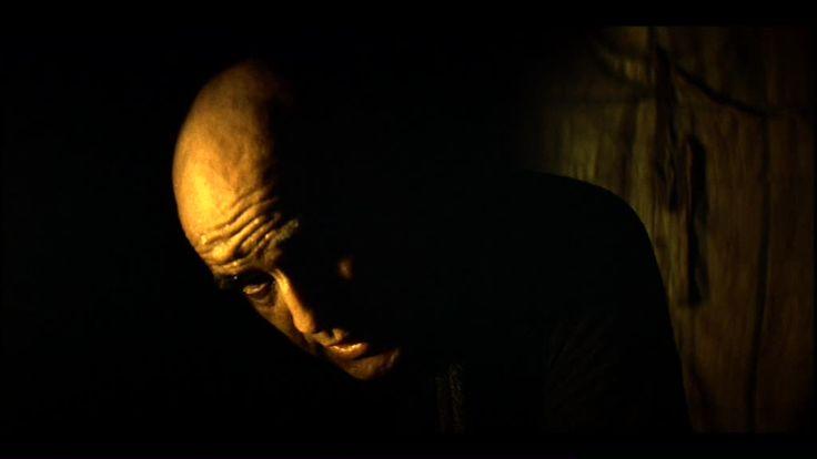 Apocalypse Now - Vittorio Storaro.  In the original version, CL. Kurtz is always in shadows or darkness.