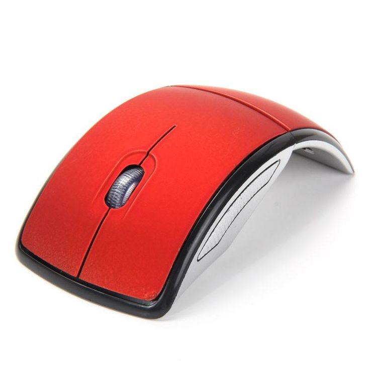 Personality Foldable 2.4GHz Wireless Compute Mouse For PC Laptop Notebook Desktop Optical Mice with USB Receiver