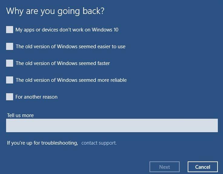 Γυρίστε στο παλιό σας λειτουργικό από Windows 10 - https://iguru.gr/2015/08/03/50024/windows-10-downgrade/