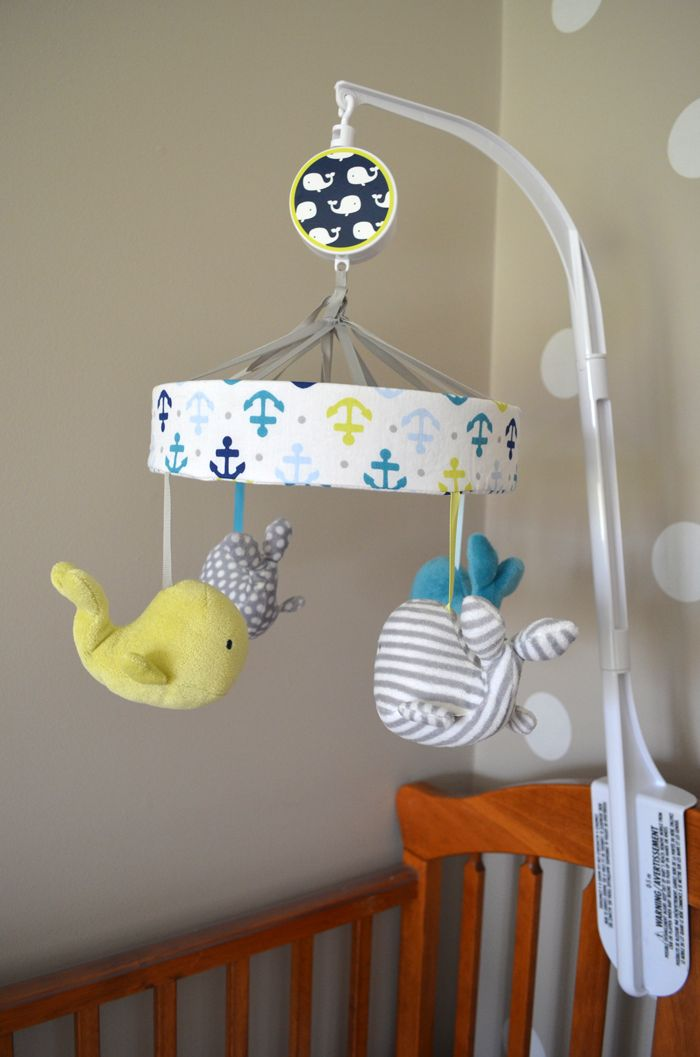 Neutral baby nursery nook on Polka Dot Soup