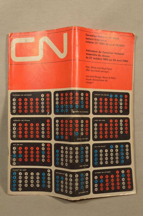 1960s Canadian National Railway Train Times Railroad
