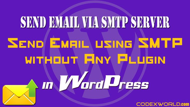 WordPress SMTP Mail - Send email from WordPress using SMTP server without any plugin. Example script to send email via Gmail SMTP in WordPress.