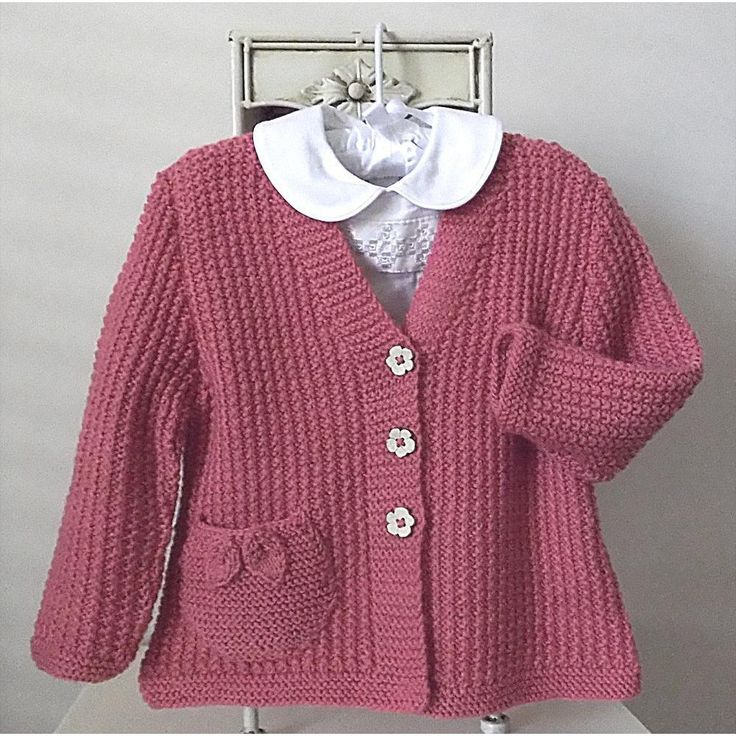 This sweet little girls V neck cardigan is great for the knitter who has mastered the art of knit and purl. The textured effect looks complicated, however is very easily achieved. The pocket/s with delicate leaves, adds that special bit of detailing.NOTE: THIS JACKET/CARDIGAN IS DESIGNED TO BE A GENEROUS FIT. IF YOU WANT A MORE FITTING STYLE YOU WILL NEED TO GO DOWN A SIZE.MATERIALS REQUIRED - PATONS BIG BABY 8ply yarn was used for the pictured garment.Recommended alternatives are Berroco…