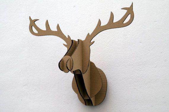 Cardboard deer head by ilocreaciones on Etsy