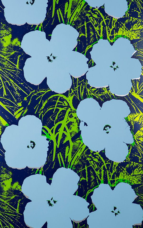 ...Andy Warhol, Flowers.