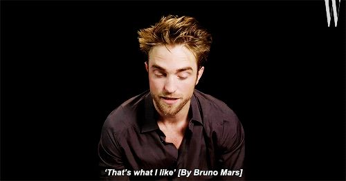 Tumblr Robert Pattinson performs his own version of Bruno Mar's song 'That's what I like' for W magazine