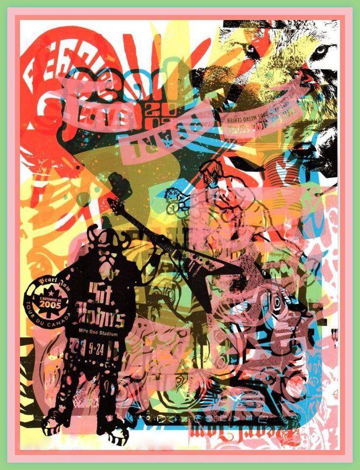 Image result for pearl jam 2005 stjohn poster image