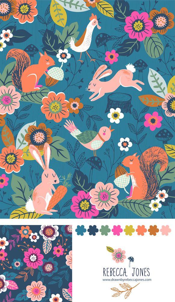 Rebecca Jones - Cuckoo Fabric such a beautiful use of colour!