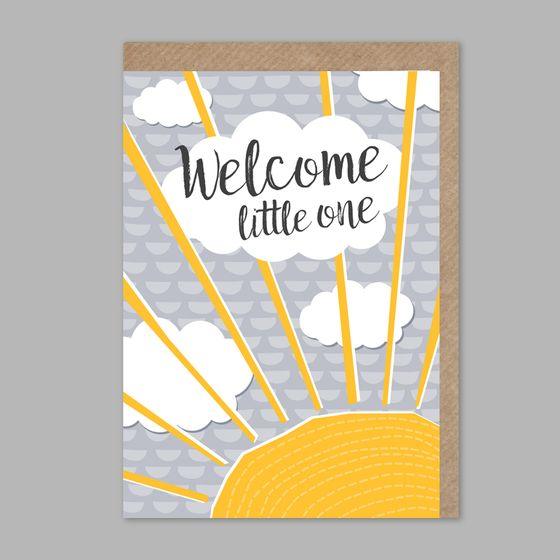 Image of Welcome little one - greetings card