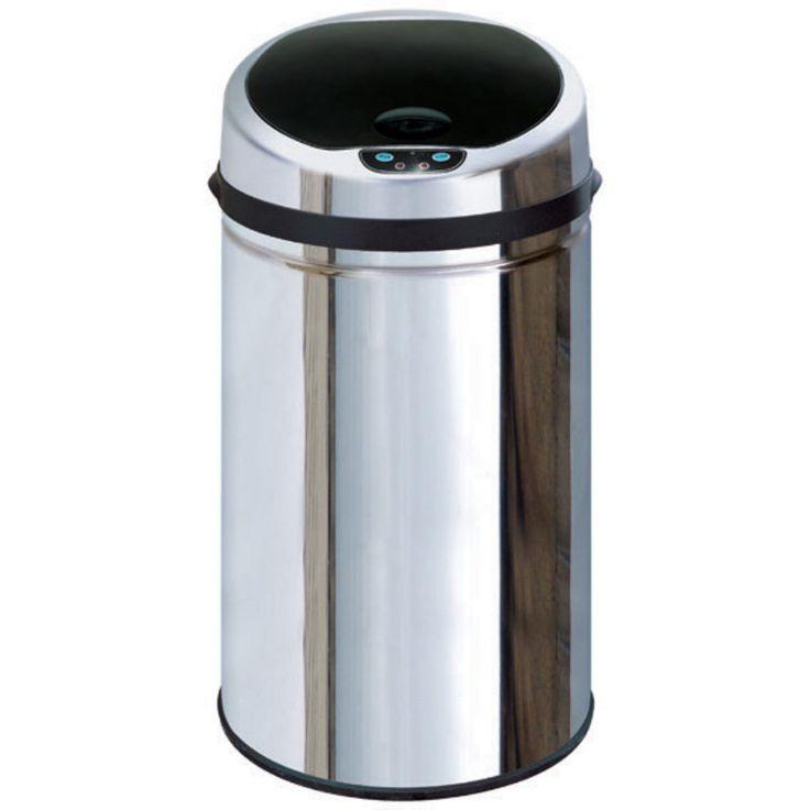 Inmotion 30L Stainless Steel Auto Sensor Kitchen Waste Dust Bin-Mybathroom.co.uk