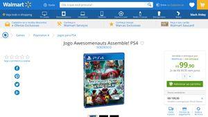 [Wal-Mart] Jogo Awesomenauts Assemble ! PS4 1831433 - de R$ 120,12 por R$ 99,90 (16% de desconto)