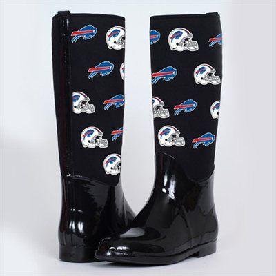Women's Buffalo Bills Cuce Shoes Black Enthusiast II Rain Boots