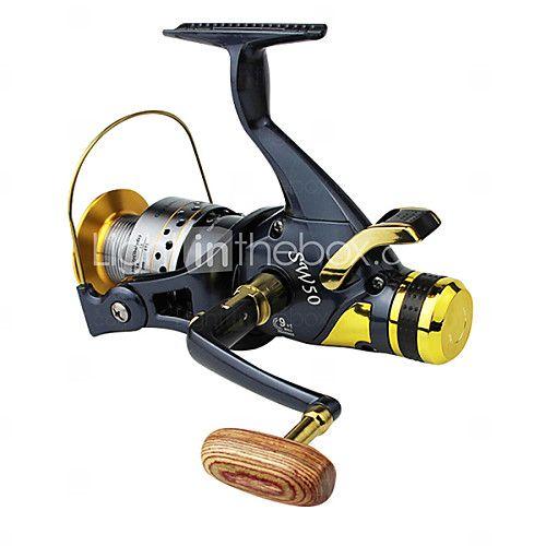 Carrete de la pesca Carretes para pesca spinning 5.2:1 10 Rodamientos de bolas -Manos / Intercambiable / ZurdoPesca de Mar / Pesca de - USD $44.54