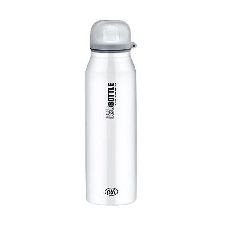 Alfi isoBottle Thermo Isolating Bottle with Drink Sealing, Pure White