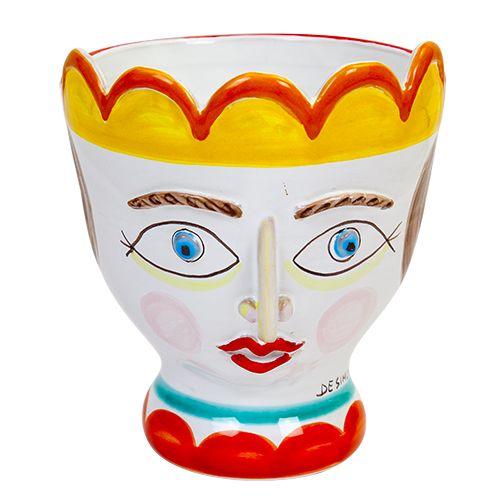 Ceramiche De Simone - Kings & Kings's Head - Plant Pot - TP190 - Portapianta