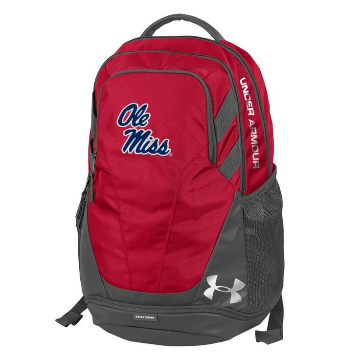Ole Miss Rebels Under Armour Hustle 3.0 Performance Backpack - Red