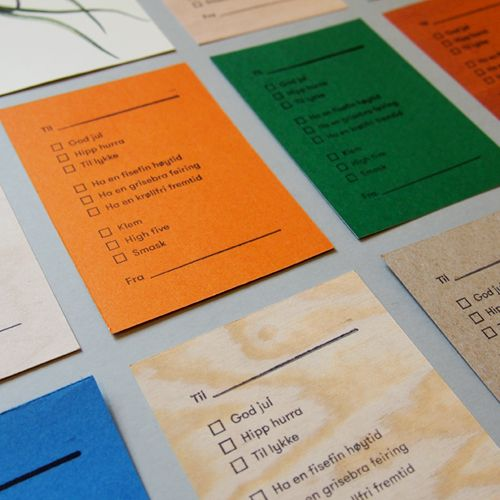 Cards for every occasion made of leftover paper.