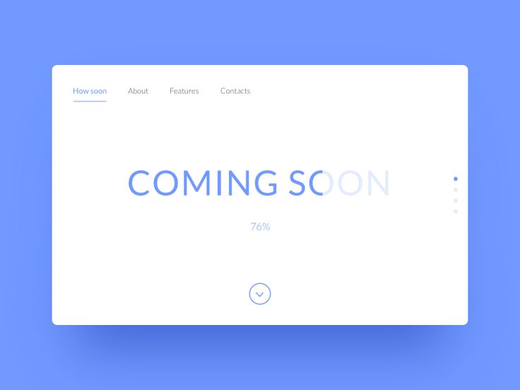 Minimalistic design for the coming soon page.   Source file attached.