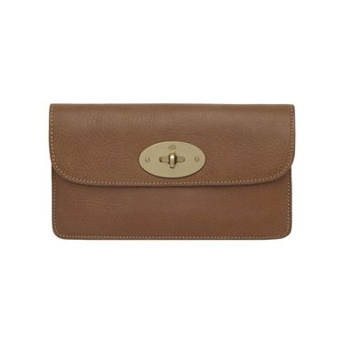 Mulberry - Long Locked Purse in Oak Natural Leather With Brass  A joy every time!