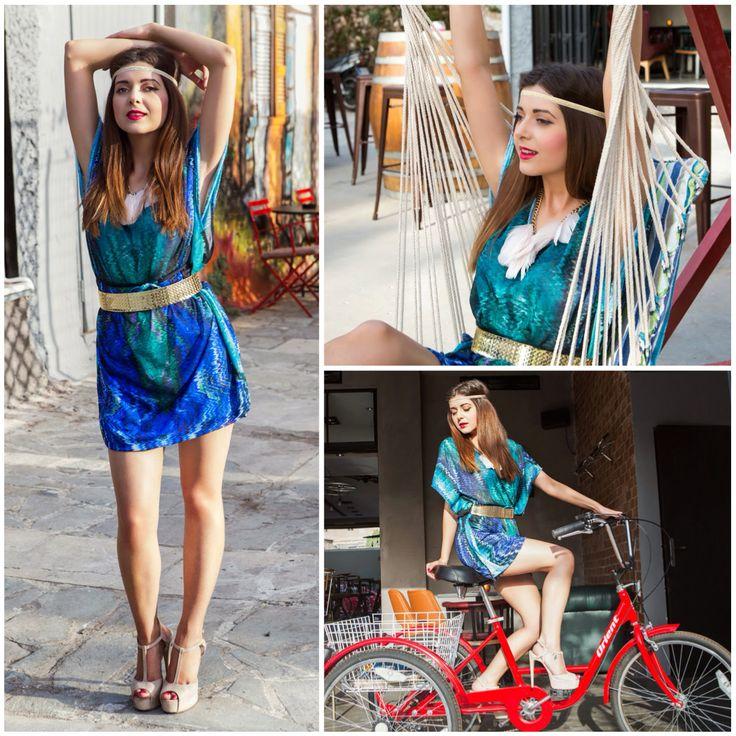 Η Alexia Zaradouka, Blogger από το Bloublou's Fashion Diary, με πέδιλα #SanteShoes από την Collection Summer 2014 #SanteLook #SanteBloggersSpot