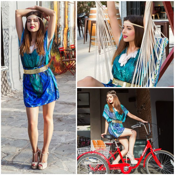 Η Alexia Zaradouka, Blogger από το Bloublou's Fashion Diary, με πέδιλα ‪#‎SanteShoes‬ από την Collection Summer 2014 ‪#‎SanteLook‬ ‪#‎SanteBloggersSpot‬