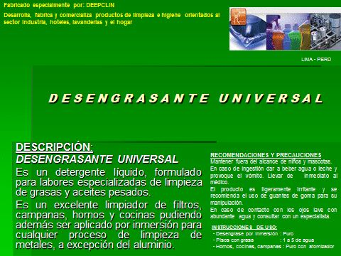 DESENGRASANTE UNIVERSAL