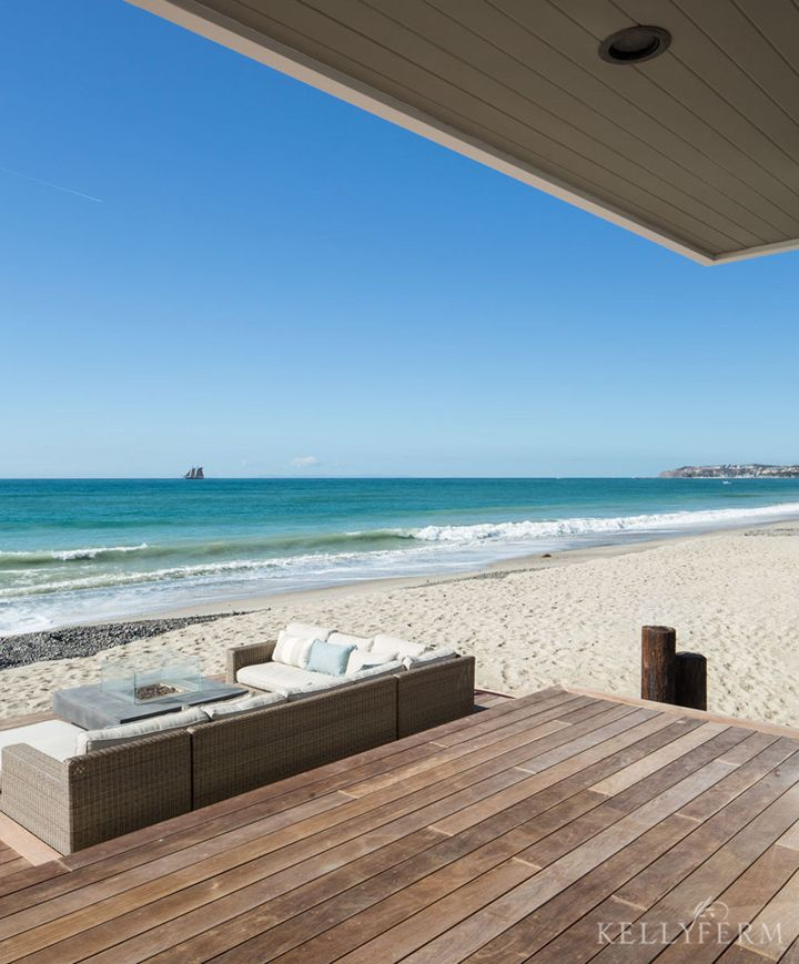 outdoor sectional + ocean view