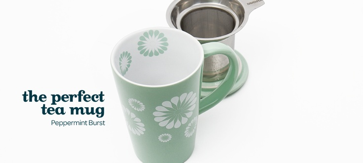peppermint burst mug  by DavidsTea  WANT!