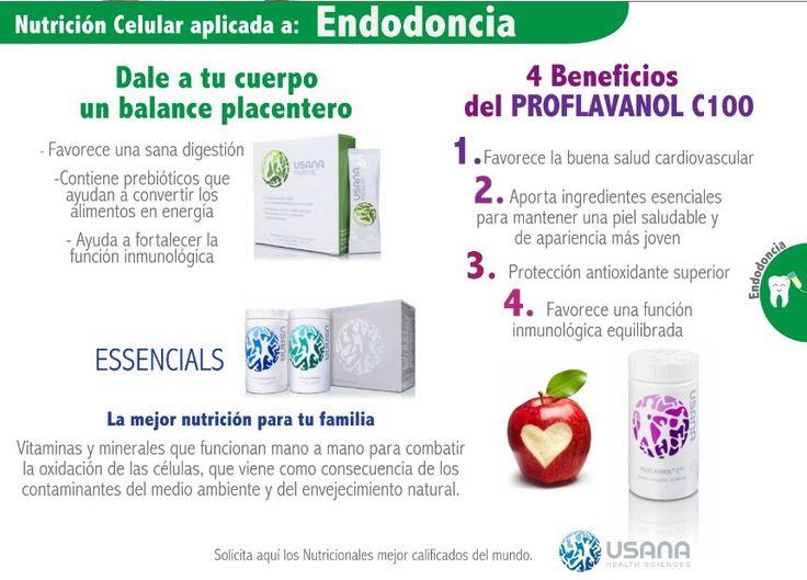 Recuerden que los productos USANA buscan lo mejor para ti, por eso contamos con Nutrición celular aplicada a endodoncia. Pide informes al numero 17 35 23 07 o en nuestra pagina web: http://www.saludintegralcmof.com